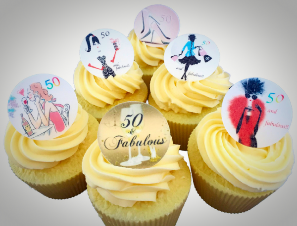 Edible cake toppers - Age 50 and fabulous